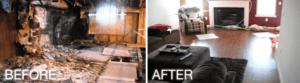 Before and After Fire Restoration - Regency DRT