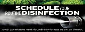 Schedule Routine Disinfection - SteraMist